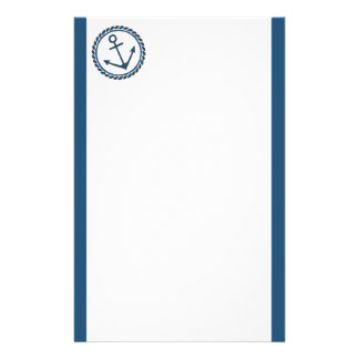 Blue Anchor Nautical Stationery
