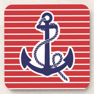 Blue anchor navy coaster