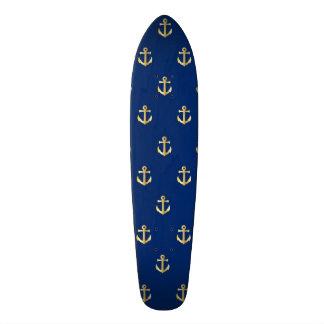 Blue anchor pattern 21.6 cm skateboard deck