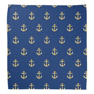 Blue anchor pattern bandana