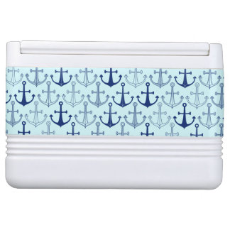 Blue Anchor Pattern Igloo Cooler