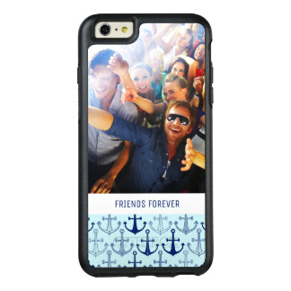 Blue Anchor Pattern | Your Photo & Text OtterBox iPhone 6/6s Plus Case