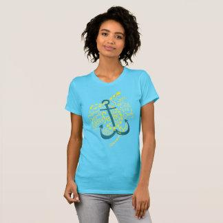 Blue anchor print T-shirt