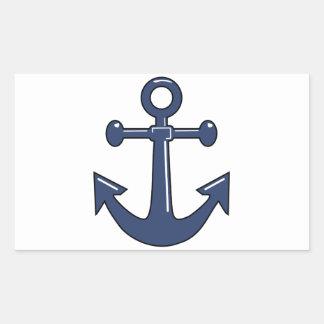 Blue Anchor Rectangular Sticker