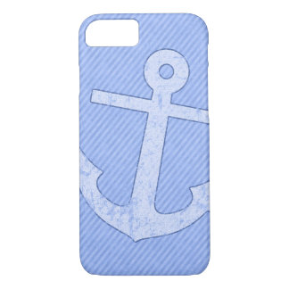Blue Anchor Stripes iPhone 8/7 Case