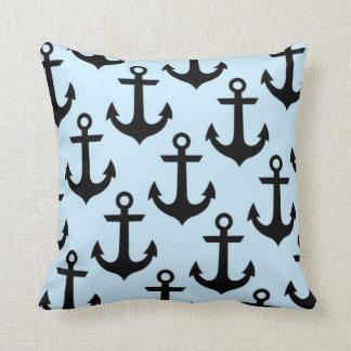 Blue Anchor Throw Pillow 16 x 16