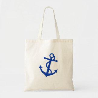 Blue Anchor Canvas Bags