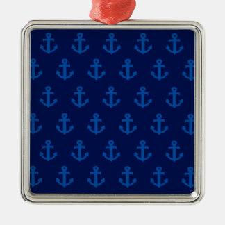 Blue Anchors Christmas Ornament