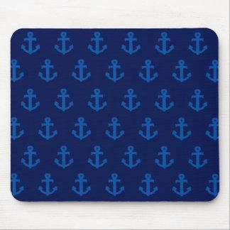 Blue Anchors Mouse Mat