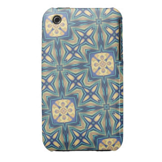 Blue and Beige Abstract iPhone 3 Case