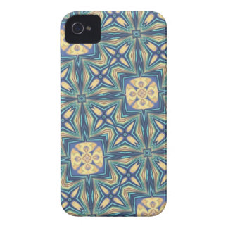 Blue and Beige Abstract iPhone 4 Case