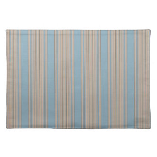 Blue and Beige Striped Placemat Ocean Villa