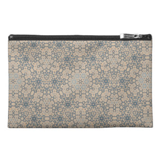 Blue and Beige Tapestry Look Bag Travel Accessories Bags