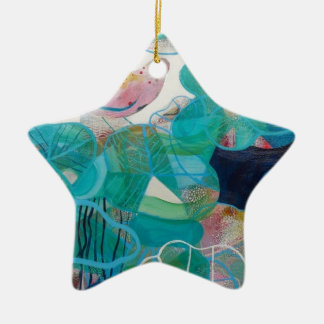 Blue and Bird Christmas Tree Ornaments