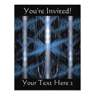 Blue and Black Abstract Design Fractal Art. Card