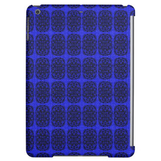 Blue and Black abstract pattern Cover For iPad Air