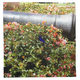 Blue And Black Bird Printed Napkins