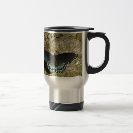 Blue and Black Butterfly Mugs