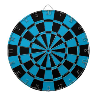 Blue And Black Dartboard