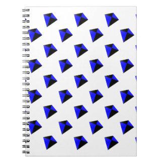 Blue and Black Diamond Kites Pattern Notebooks