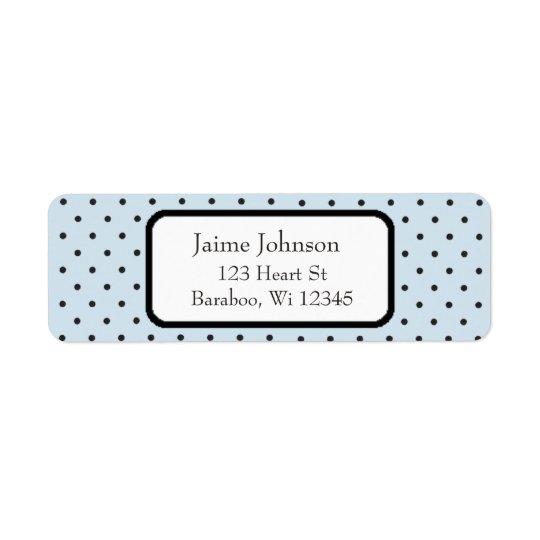 Blue and Black Dots  Return Address Sticker Return Address Label