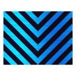 Blue and Black Downward Hazard Stripes Flyer