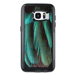 Blue And Black Feather Design OtterBox Samsung Galaxy S7 Edge Case