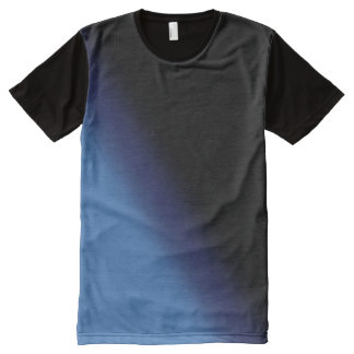 Blue and Black Gradient All-Over Print T-Shirt