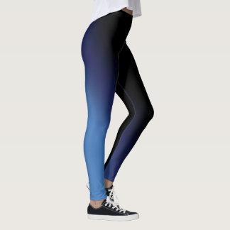 Blue and Black Gradient Leggings
