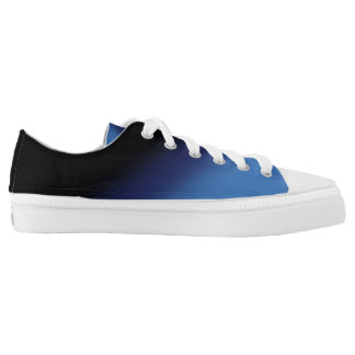 Blue and Black Gradient Low Tops