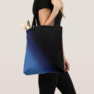 Blue and Black Gradient Tote Bag