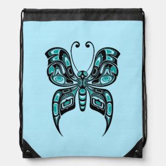 Blue and Black Haida Spirit Butterfly Backpacks