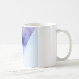blue and black ink spot mug