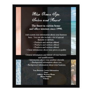Blue and Black Luxury Spa Resort Theme 11.5 Cm X 14 Cm Flyer