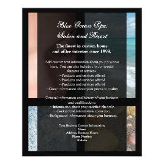 Blue and Black Luxury Spa Resort Theme Flyer