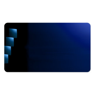 Blue and Black Modern Unusual Visual Biz Card Pack Of Standard Business Cards