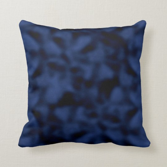 Blue and Black Mottled Cushion