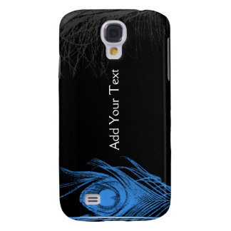 Blue and Black Peacock Galaxy S4 Case