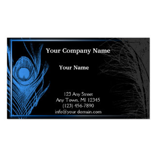 Blue and Black Peacock Pack Of Standard Business Cards