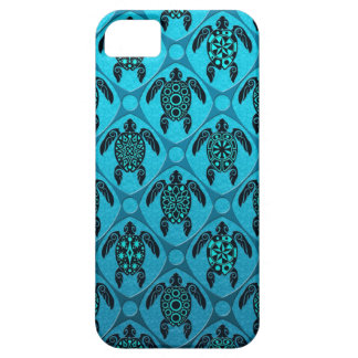Blue and Black Sea Turtle Pattern iPhone 5 Covers