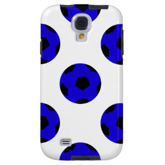 Blue and Black Soccer Ball Pattern Galaxy S4 Case