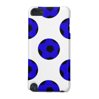 Blue and Black Soccer Ball Pattern iPod Touch 5G Cover