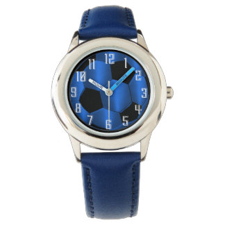 Blue and Black Soccer Ball Watch