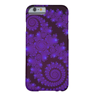Blue And Black Spiral Fractal Barely There iPhone 6 Case