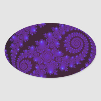 Blue And Black Spiral Fractal Sticker