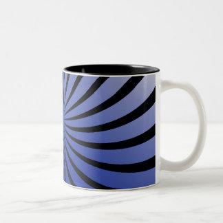 blue and black starburst Two-Tone mug