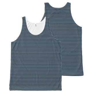 Blue and Black Stripes All-Over Print Tank Top