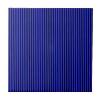 Blue and Black Stripes Tile