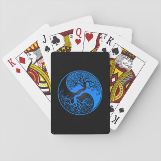 Blue and Black Tree of Life Yin Yang Poker Deck