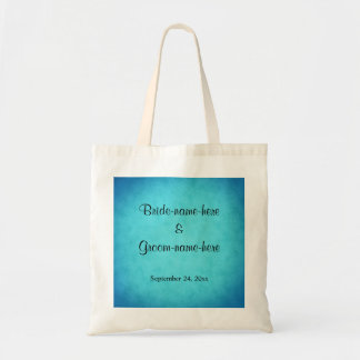 Blue and Black Wedding Budget Tote Bag
